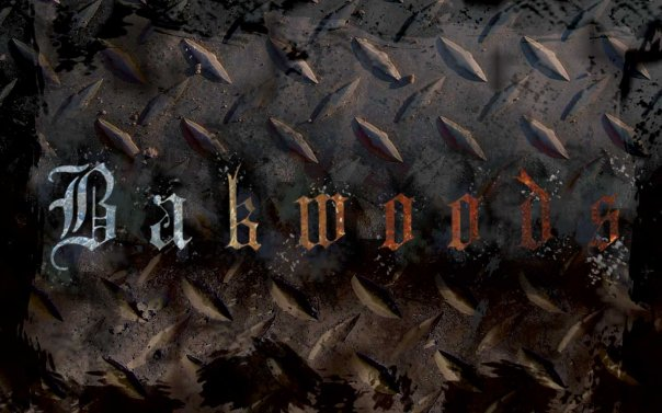 Bakwoods wallpaper created for a skate/snowboarding movie and clothing company. Metal and grunge.
