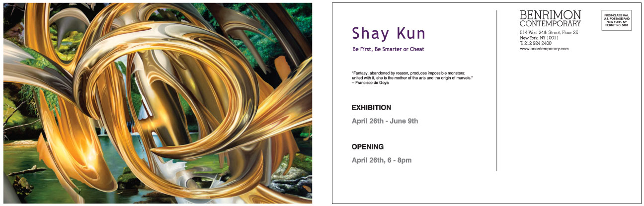 Invitation for an Contemporary Art Exhibition