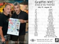Invitation for a Contemporary Art Gallery, Graffiti Exhibition