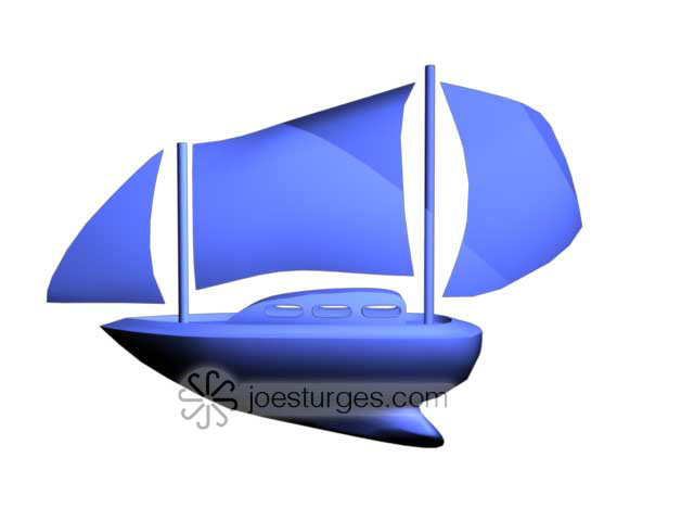 Boat created using CV Curves and Nurbs in Maya
